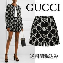 GUCCI Printed Pants Short Monogram Blended Fabrics Cotton