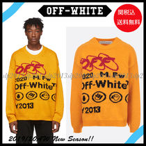 Off-White Crew Neck Wool Blended Fabrics Long Sleeves Knits & Sweaters