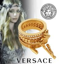 VERSACE Unisex Party Style Brass Rings