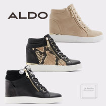 ALDO Platform Round Toe Casual Style Plain Leather Python