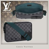 Louis Vuitton DAMIER GRAPHITE Canvas Blended Fabrics Street Style 2WAY Bi-color