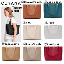 CUYANA Casual Style 2WAY Plain Office Style Totes