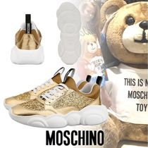 Moschino Round Toe Lace-up Casual Style Unisex Street Style