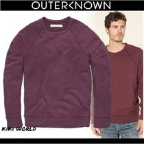Outer known Crew Neck Pullovers Long Sleeves Cotton Sweatshirts