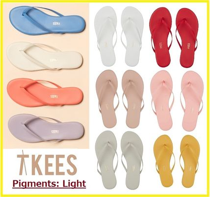 Open Toe Casual Style Blended Fabrics Street Style Bi-color