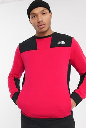 THE NORTH FACE Sweatshirts Crew Neck Pullovers Unisex Street Style Long Sleeves Plain 6