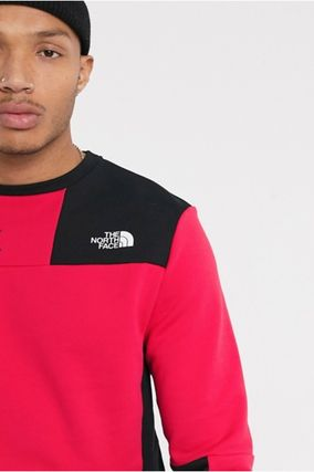 THE NORTH FACE Sweatshirts Crew Neck Pullovers Unisex Street Style Long Sleeves Plain 8