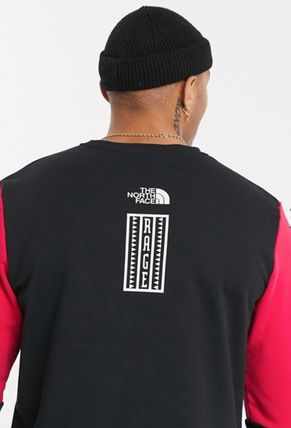 THE NORTH FACE Sweatshirts Crew Neck Pullovers Unisex Street Style Long Sleeves Plain 9