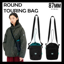 87MM Casual Style Unisex Collaboration Shoulder Bags