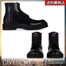 GIVENCHY Plain Toe Blended Fabrics Street Style Plain Leather