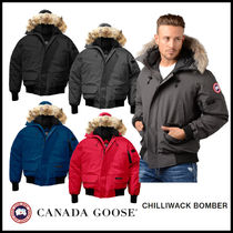 CANADA GOOSE CHILLIWACK Short Fur Street Style Plain Down Jackets