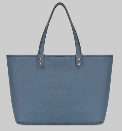 Unisex A4 Leather Elegant Style Totes