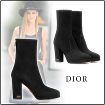 Christian Dior 2019-20AW D-RISE ANKLE BOOT IN SUEDE CALFSKIN black 34-39