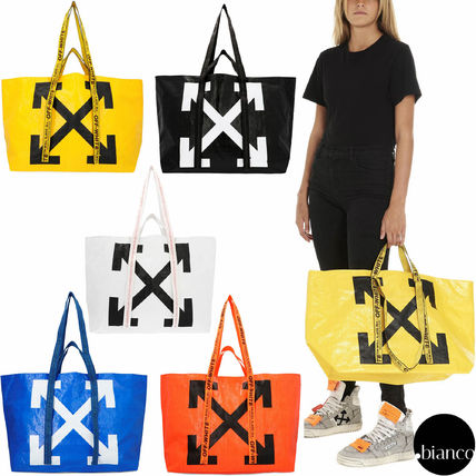 Casual Style Unisex Street Style A4 2WAY Totes