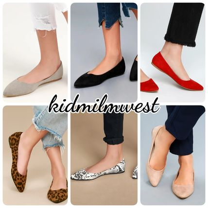Plain Other Animal Patterns Pointed Toe Pumps & Mules