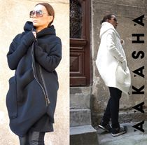 Aakasha Casual Style Plain Long Handmade Coats