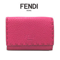 FENDI SELLERIA Leather Folding Wallets