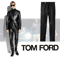 TOM FORD Tapered Pants Street Style Plain Leather Tapered Pants