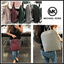 Michael Kors Saffiano 2WAY Plain Backpacks