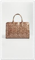 MARYAM NASSIR ZADEH Leopard Patterns PVC Clothing Elegant Style Totes