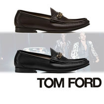 TOM FORD Loafers Street Style Chain Plain Leather Loafers & Slip-ons