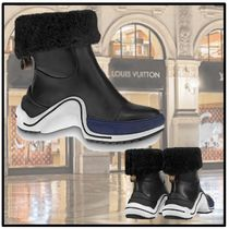 Louis Vuitton 2019-20AW LV ARCHLIGHT HALF BOOT black booties