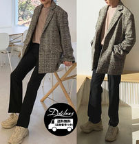 ASCLO Other Check Patterns Tweed Blazers Jackets