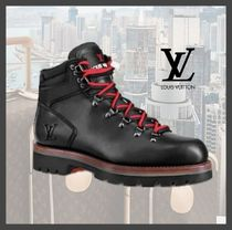 Louis Vuitton Mountain Boots Plain Leather Outdoor Boots