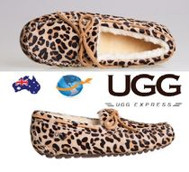 Leopard Patterns Round Toe Rubber Sole Casual Style