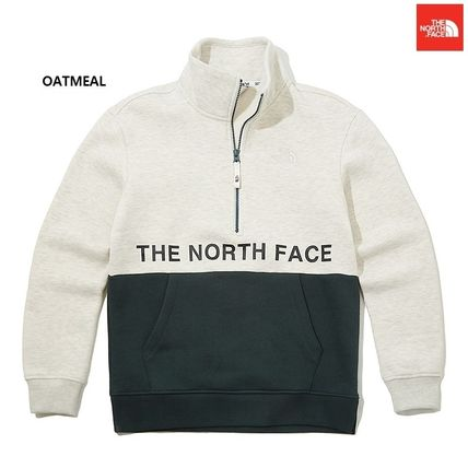 THE NORTH FACE Crew Neck Argile Unisex Low Gauge Street Style Long Sleeves