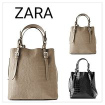 ZARA Faux Fur Other Animal Patterns Crossbody Totes
