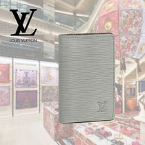 Louis Vuitton EPI Other Check Patterns Blended Fabrics Leather Card Holders