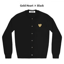 COMME des GARCONS Heart Wool Long Sleeves Cardigans