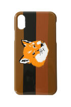 MAISON KITSUNE iPhone X/Xs Case Stripe Fox Head