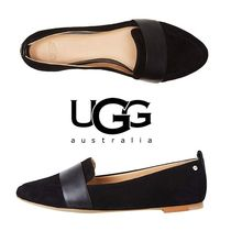 UGG Australia Plain Toe Moccasin Suede Plain Office Style Flats