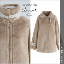 Chicwish Casual Style Faux Fur Long Oversized Coats