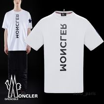 MONCLER GRENOBLE Cotton Short Sleeves Logos on the Sleeves T-Shirts
