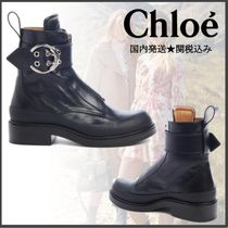 Chloe Roy Rubber Sole Casual Style Plain Leather Ankle & Booties Boots