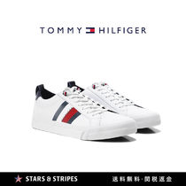 Tommy Hilfiger Stripes Street Style Leather Sneakers