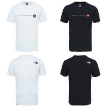 THE NORTH FACE Crew Neck Plain Cotton Short Sleeves Crew Neck T-Shirts
