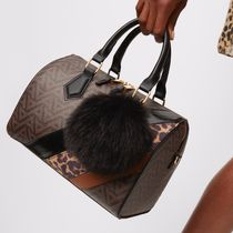 ALDO Leopard Patterns Faux Fur 2WAY Plain Elegant Style Handbags