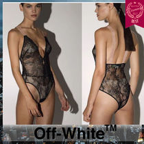 Off-White Plain Lace Underwear & Roomwear