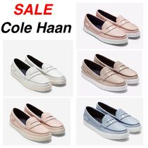 Cole Haan Plain Toe Rubber Sole Plain Leather Loafer & Moccasin Shoes