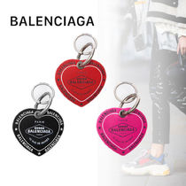 BALENCIAGA Heart Unisex Leather Keychains & Bag Charms