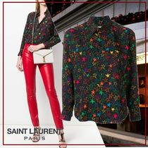 Saint Laurent Star Silk Shirts & Blouses