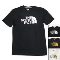 THE NORTH FACE Crew Neck Pullovers Unisex Street Style Cotton Short Sleeves