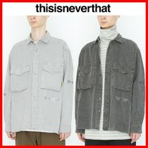 thisisneverthat Unisex Street Style Long Sleeves Cotton Shirts & Blouses