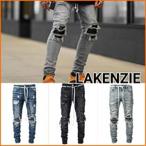 LAKENZIE Denim Street Style Plain Jeans & Denim