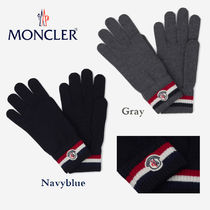 MONCLER Stripes Wool Gloves Gloves