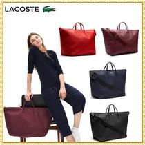 LACOSTE Casual Style A4 3WAY Plain PVC Clothing Totes
